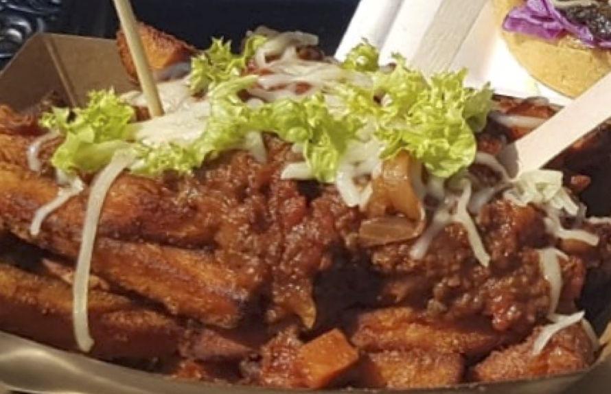 Sweet Potato Fries mit Chilli Con Carne